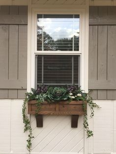 winter window boxes are complete! Love them💚My winter window boxes are complete! Love them💚 Good plants - Curb Appeal and Landscaping Ideas from Fixer Upper Rustic Farmhouse Style Shutters Rustic Farmhouse Window Zen Bedroom Decor, Wall Decor, Home Decor, Tv Decor, Bedroom Ideas, Exterior Paint, Exterior Design, Winter Window Boxes, Window Planter Boxes