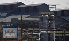 MAY 24, 2012: RG Steel LLC's Sparrows Point steel mill as seen from Bethlehem Blvd Thursday. The company has announced the imminent closure of the plant slated for June, which would affect over 1,000 workers. (Karl Merton Ferron/Baltimore Sun Staff)