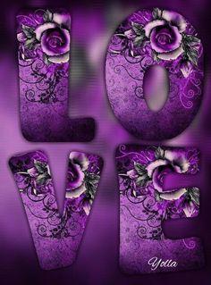 """""""LOVE"""" in Flowers"""