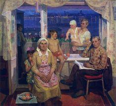 Петр Семенов - «Семья. Ижевские металлурги Обуховы», 1979 Soviet Art, Beautiful Paintings, Still Life, Artist, Painters, Artists