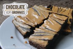 chocolate peanut butter {gf} brownies