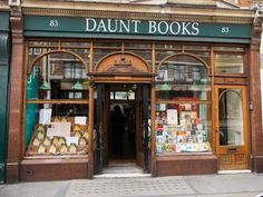 Daunt Books , London   19 Magical Bookshops Book Lovers Absolutely Must Visit London Bookstore, Santorini, Nanjing, Things To Do In London, Shop Fronts, England And Scotland, London Eye, London Tips, London 2016