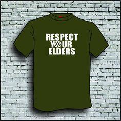 RESPECT YOUR ELDERS T SHIRT T-SHIRT VW VOLKSWAGEN #Gildan #BasicTee