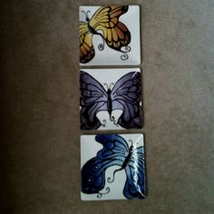 Butterfly plates painted by Jennifer Beamer! <3