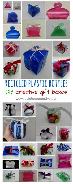 """iwanttoberecycled: """" irecyclart: """" Amazing Gift Boxes Made Out Of Recycled Plastic Bottles Creative ideas to reuse plastic bottles and make amazing gift boxes with them"""
