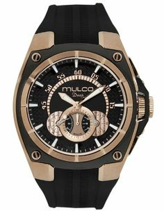 Mulco MW1-29786-025 Stainless Steel Chronograph Deep Collection BLack Dial Watch MULCO. $323.39. GarageWatch`s  2yr Warranty Valid in the USA and Venezuela