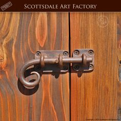 Slide Bolt - HH420 - Iron door hardware custom handcrafted in any size and style - wrought iron, patina finish by master blacksmiths - made in the USA