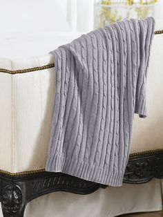 Cabled Cotton Throw Blanket - Throws   Throws & Bed Blankets - RalphLauren.com