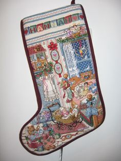 Counted X-stitch Christmas Stocking - Took 4 years!
