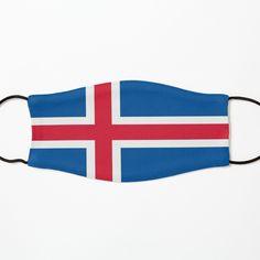 Face Mask, Iceland. Iceland Face Covering. Christmas. Icelandic Flag. íslenski fáninn. by GraceTee | Redbubble Iceland Flag, Flag Face, Face Masks, Cover, Christmas, Gifts, Fashion, Xmas, Moda