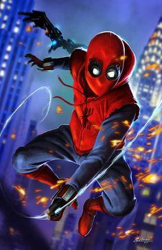 Spiderman Homecoming Fan art by BenWilsonham on DeviantArt All Spiderman, Spiderman Kunst, Amazing Spiderman, Marvel Comics, Marvel Heroes, Mcu Marvel, Tom Holland, Hulk, Avengers