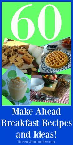 Make Ahead Breakfast Ideas to Make Back-to-School Mornings Easier