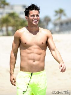 Disney heartthrob Spencer Boldman shows off his ripped figure while doing a workout and going for a run along the beach in Santa Monica on June 24, 2014. The actor, who cooled off with a dip in the ocean after working up a sweat, can be seen in his new movie 'Zapped' this week, co-starring Zendaya.