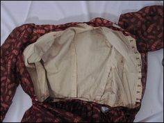 Interior views of a dress from the Old Sacramento Living History collection.