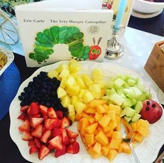 an autumn   storybook baby shower {part one} hungry caterpillar fruit tray