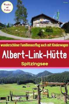 Albert-Link-Hütte Spitzingsee. Ein wunderschöner Familienausflug auch mit Kinderwagen. #wandernmitkindern #wandernmitkinderwagen #ausflugmitkinderwagen #urlaubinbayern #bayernwandern #spitzingseewandern #spitzingseemitkindern #spitzingseeal #ausflusgzielebayern #wanderurlaubbayern #familienausflug #familienwanderung #spitzingsee Seen In Tirol, Monument Valley, Golf Courses, Places To Visit, Hiking, Mountains, Fun, Travel, Outdoor