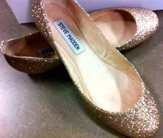 Gold Flats- for the reception  Bridesmaids & MOH**