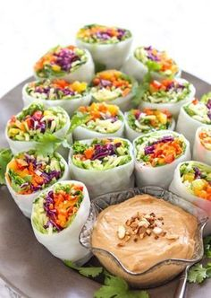 Loaded Veggie Summer Rolls with Cashew Tahini Dip - My Fres.-Loaded Veggie Summer Rolls with Cashew Tahini Dip – My Fresh Perspective Loaded Veggie Summer Rolls with Cashew Tahini Dip – vegan + gluten free Raw Food Recipes, Cooking Recipes, Healthy Recipes, Cashew Recipes, Vegan Recipes Summer, Free Recipes, Cooking Ribs, Cooking Games, Dip Recipes