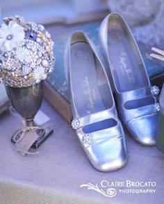 Silver shoes @ The Vintage Marketplace march 2012 show...next show June 1st & 2nd...