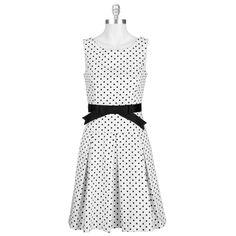 Helene Berman Polka Dot Drop Waist Dress #VonMaur