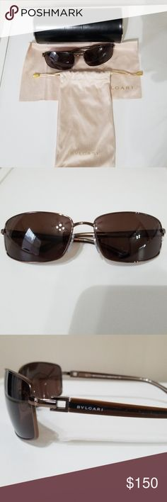 BVLGARI sunglasses BVLGARI brown sunglasses.  Beautiful sunglasses only worn a couple of times. Comes with hard case, soft pouch and cleaning cloth. BVLGARI Accessories Sunglasses