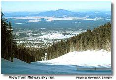 Snowbowl Flagstaff, AZ  view from Midway Sky Run
