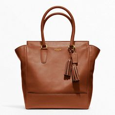 Coach Leather Tanner Tote