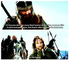 I love the way Aragorn says this line  :-)