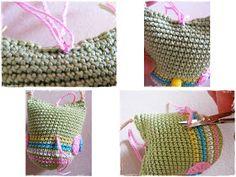 Fizule71: Háčkovaná sovička Straw Bag, Crochet Hats, Bags, Knitting Hats, Handbags, Bag, Totes, Hand Bags