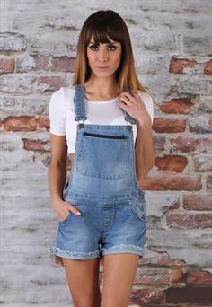 buy good wide selection of colours and designs special discount Details about WOMENS LADIES DENIM DUNGAREE SHORTS SKIRT ...