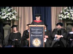 Here is the footage of my Commencement Address at the University of Pittsburgh at Bradford...