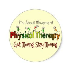 Physical Therapy Products and Gifts Classic Round Sticker