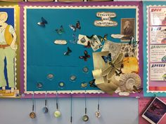 Year 6 Evolution and Inheritance display with Charles Darwin. Children match magnifying glasses with prehistoric animals and plants to the 'fossils' in the petri dishes Primary School Displays, Class Displays, Classroom Displays, Ks2 Display, Display Ideas, Ks2 Science, Life Science, Display Boards For School, Interactive Word Wall