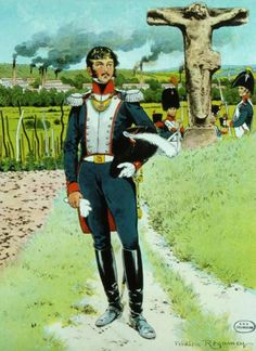 French; National Guard, Colonel, 1814 near the town of Mühlhausen by Frederic Regamey