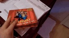 """And, finally, this singing birthday card: 