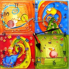 Unique handmade wall clock with fairy tale decoration. Stained glass painting made of professional paints. Silent quartz mechanism. On the reverse side - strong attachment to the wall. Powered by 1 AA battery. Especially for you it takes only 1 your step and 7 days for our artisan to create it. Make your dreams come true! . To find & buy this and other interesting handmade goods of our Artisans follow the link in our profile description!  #handiwork #handmadegift #handmadeloves…