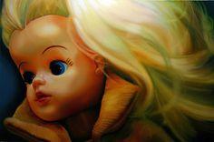 Plastic doll captured in canvas Sarah Graham, Plastic Doll, Princess Zelda, Disney Princess, Art Boards, Tinkerbell, Pop Art, Disney Characters, Fictional Characters