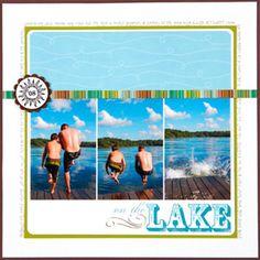 Scrapbook Outdoor Activities: On the Lake Scrapbook Page