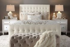 Decorating:Bedroom Decor Ideas For Women That Looks Cozy And Chic Magnificent Bedroom Ideas For Women With Tufted Headboard Also Small Ottoman Design
