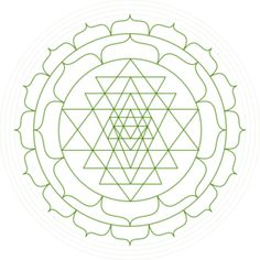 Shri Yantra - Black And White clip art - vector clip art online, royalty free & public domain