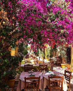 """6,383 """"Μου αρέσει!"""", 64 σχόλια - 🌎hello_w@rld (@hello_worldpics) στο Instagram: """"🔺This wonderful picture is by @joanna.doussia 🔹Location : Nauplie , Greece 🔺Founders @reginesemaan…"""" Beautiful Roads, Outdoor Restaurant, Wonderful Picture, Bougainvillea, Mediterranean Sea, Wisteria, Outdoor Spaces, Outdoor Gardens, Table Decorations"""