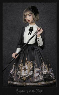 Your Gift -Sanctuary of the Night- Lolita OP Dress,Lolita Dresses, Harajuku Fashion, Kawaii Fashion, Lolita Fashion, Mode Lolita, Cute Asian Fashion, Japanese Street Fashion, Kawaii Clothes, Beautiful Asian Women, Lolita Dress