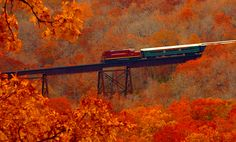 Alma, Arkansas - Train in Autumn