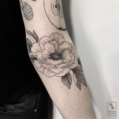 Flower Tattoo by Marla Tattoo