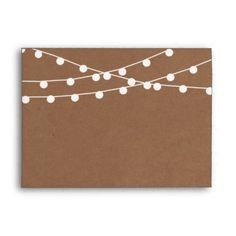 The Rustic Kraft String Lights Wedding Collection Envelope