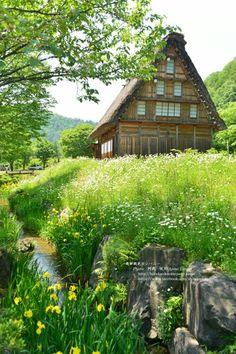 Picturesque Shirakawa-go, Japan Shirakawa Go, Green Nature, My Happy Place, Beautiful Places, Environment, Cabin, Landscape, World, House Styles