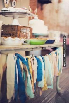ribbon garland craftaroo. | VIA #WEDDINGPINS.NET