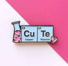 Are you a cute scientist, a scientist who loves cute or do you know one? Yes? then this is the perfect pin for you! It would look great on your lab coat or on your lanyard and youll be the envy of your lab buddies. Featuring a cute bubbly conical flask and a play on the periodic