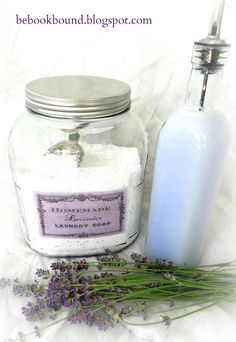 Homemade Lavender Laundry Soap