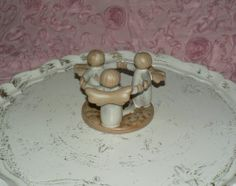 Stoneware Pottery Circle of Angels Candle Holder Spring Sale | eBay  24